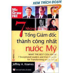 Nhung bai hoc cua 7 Tong Giam doc thanh cong nhat nuoc My