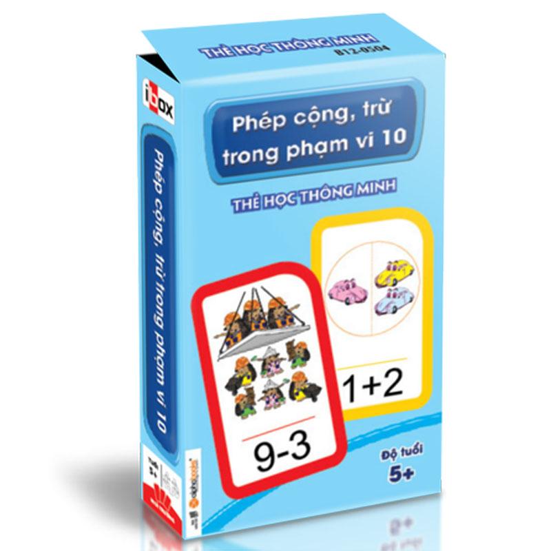 Flash Card: The hoc thong minh - Phep cong, tru trong pham vi 10