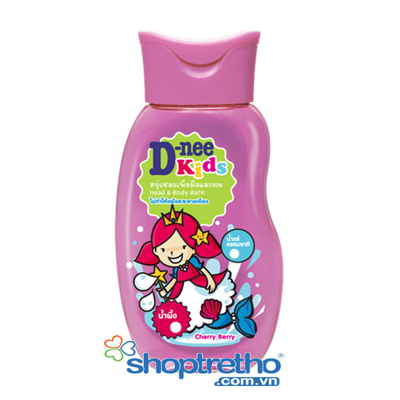 Tam goi toan than tre em Kids D-nee 200ml (mau hong)