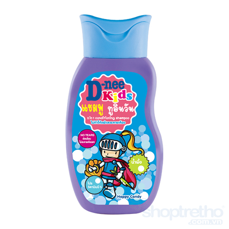 Tam goi toan than Kids D-nee 200ml (mau tim)